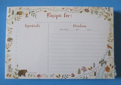 Woodland whimsy adventure pack 50 RECIPE CARDS Legacy bridal shower gift - Bridal Shower Recipe Cards