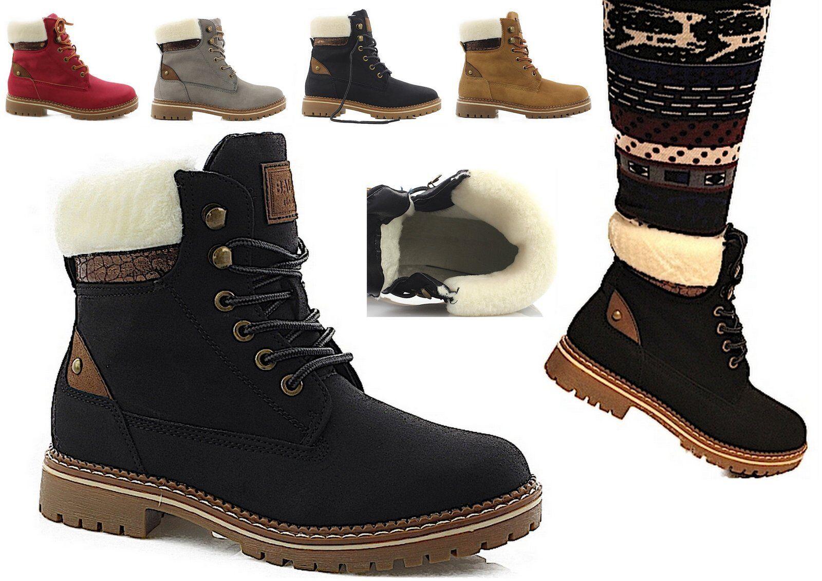 Damen Zapatos  Winter Zapatos  botas Stiefeletten Outdoor  NEU Zapatos  warm gefüttert NEU  8a9c77