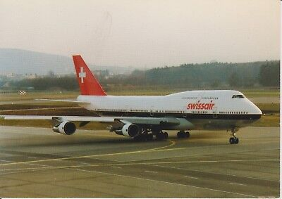 SWISSAIR (SWITZERLAND) - BOEING B-747-300 - SUPER JUMBO - HB-? - POSTCARD, used for sale  Shipping to United States