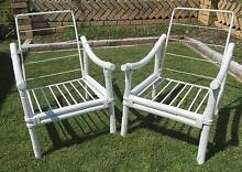 Pair of Retro Beach House Boho Cane Outdoor Single Lounge Chairs Morningside Brisbane South East Preview