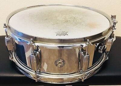 Wooding Snare Drum 5 x 14 Hollywood Meazzi Drum Co. (Vintage Steel)