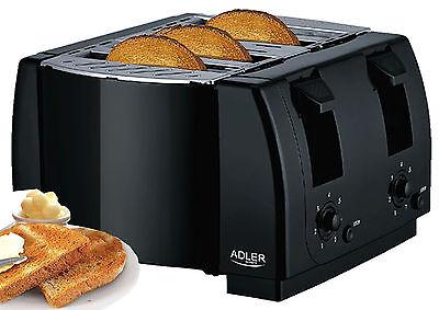 4 Scheiben Toaster mit Krümelschubalde Vierschlitz Toster 7 Stufen Toastautomat