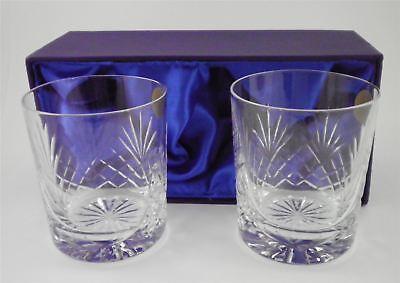 Paar Personalisiert 313ml Schliff Kristall Whisky Gläser Mit Luxus Geschenk Box