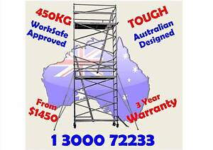 Scaffolding Aluminium 450KG WorkSafe Registered Mobile Scaffold Melbourne CBD Melbourne City Preview