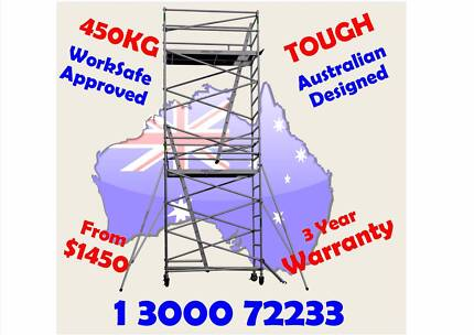 Scaffolding Aluminium 450KG WorkSafe Registered Mobile Scaffold