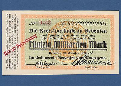 BEVENSEN 50 Milliarden Mark 1923 II+ / XF+