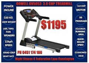 NEW FULL FUNCTION 3 CHP MOTOR TREADMILL GV5053 - FREE DELIVERY