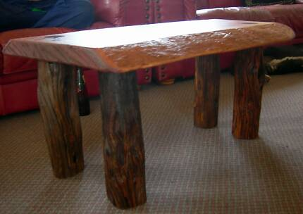New Coffee Table - Rustic Forest Red Gum Slab