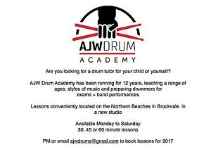 Drum Lessons || Northern Beaches, Brookvale Brookvale Manly Area Preview