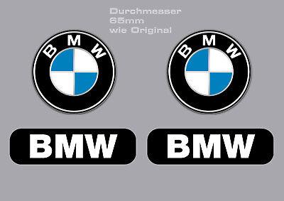 4-er BMW.Aufkleber - Set - 2 x BMW Logo rund und 2 x BMW rechteckig