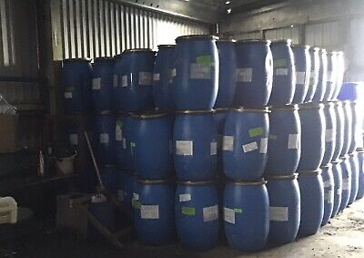 Ten 10 X Blue 120 Litre Barrels Butt Feed Bin Waste Cooking Oil Storage Sealed