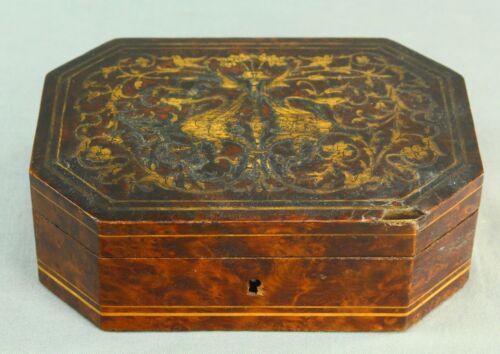 ! Antique SORRENTO WARE Italian Fine Inlaid Wood Marquetry Box Mahogany