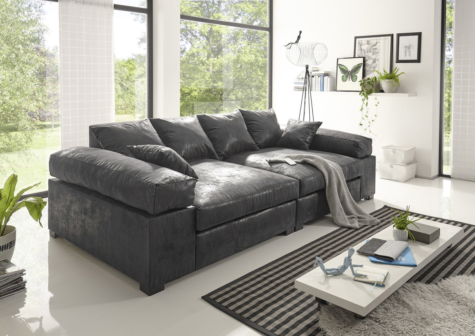 Big Sofa Couchgarnitur Megasofa Riesensofa  Polstergarnitur XXL Vintage.