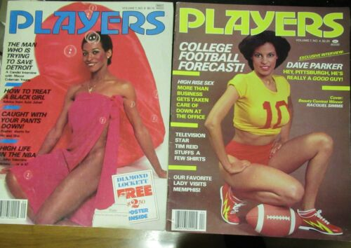 2 PC PLAYERS VINTAGE AFRICAN AMERICAN COLLECTABLE MAGAZINE