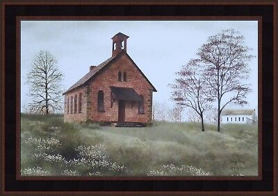 SPRING BREAK by Billy Jacobs FRAMED PRINT 15x21 Country School House PICTURE HCD
