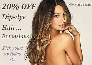 20% off on all Dip Dye Hair Extensions Caroline Springs Melton Area Preview