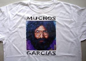 T-shirt white 100% cotton size XL Jerry Garcia Grateful dead muchos garcias