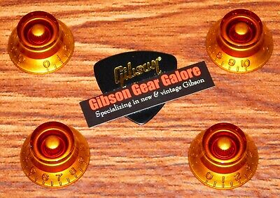 Epiphone Les Paul Knobs Set Amber Top Guitar Parts SG Custom ES Explorer DC T for sale  Shipping to Canada