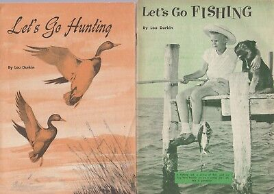LET'S GO HUNTING AND FISHING 1957 BROCHURES BY LOU DURKIN