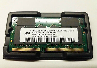 MICRON SDRAM 512MB SoDIMM PC133 144Pin 16Chip Notebook Laptop Speicher RAM NEU - Pc133 Sdram 144 Pin Laptop