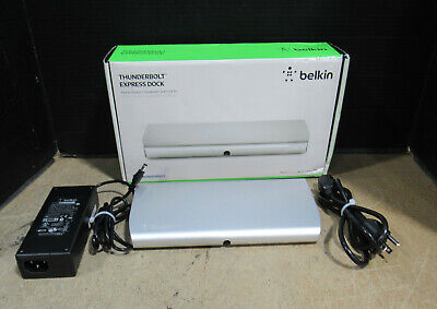 Belkin Thunderbolt Express Dock 8-Port Docking Station F4U055ww w/ Power Adapter