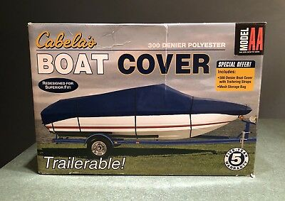 Used, Cabela's Deluxe 300 Denier Polyester Boat Cover Trailerable 12' - 14' Mod AA  for sale  Bridgeport