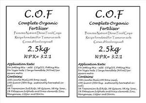 2.5 kg Complete Organic Vegetable Fertiliser - Solomon recipe Longley Kingborough Area Preview