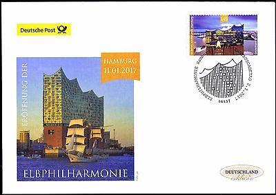 BRD 2017: Eröffnung der Elbphilharmonie in Hamburg! Post-FDC der Nr 3278! 1706