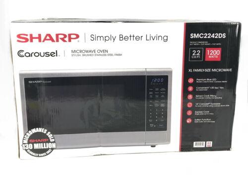 Sharp SMC2242DS, Stainless Steel Countertop 1200 Watt Microwave Oven 2.2 Cu Ft