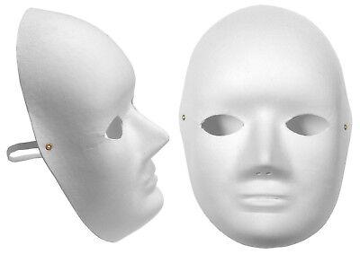 Einfach Weiß Cane Faser Gesichtsmaske Biologisch Kostüm Pappmaché Lot 7073