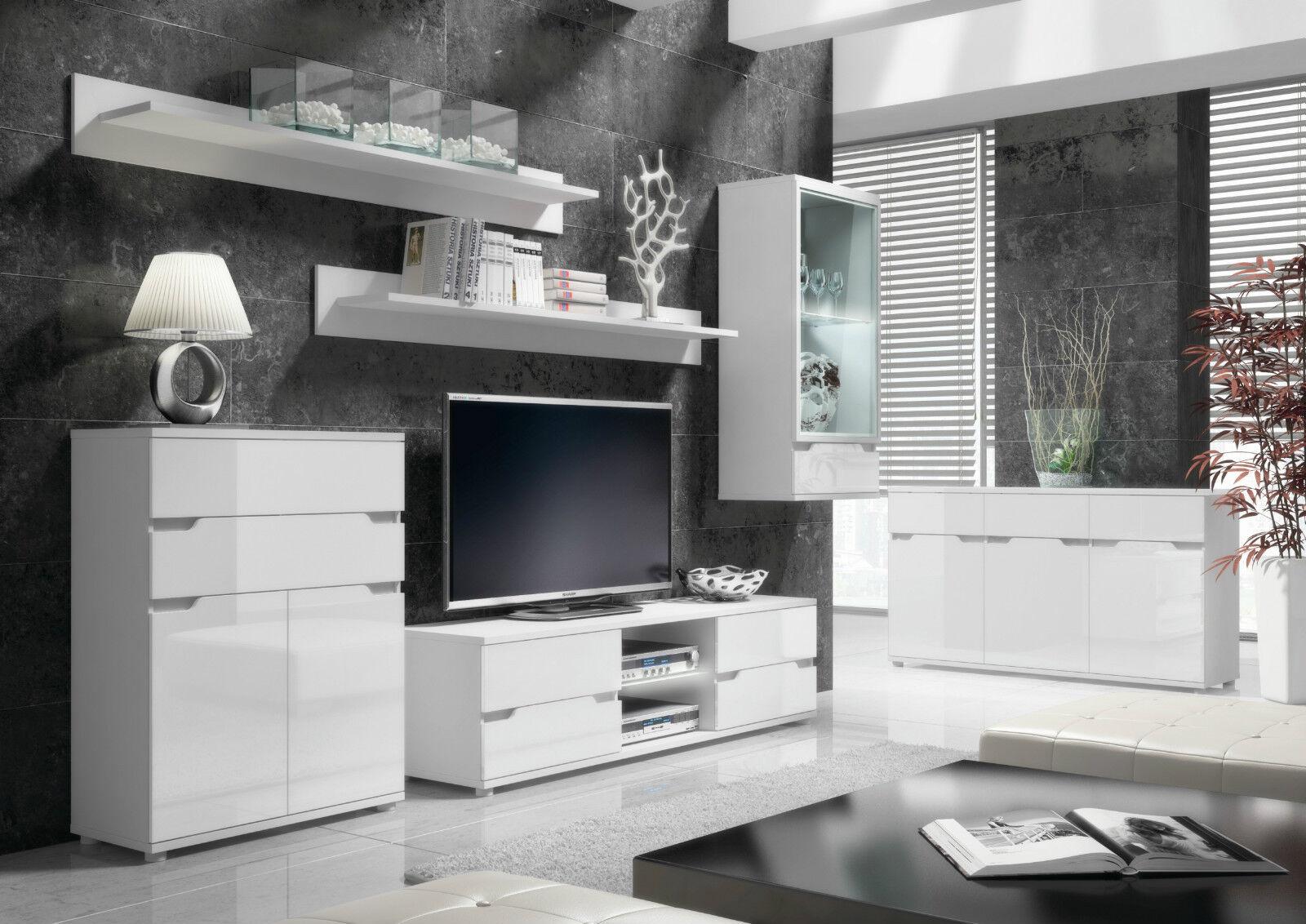 tv lounge furniture. Aspire High Gloss White Lounge Furniture Sideboard TV Unit Tall Display Cabinet Tv E