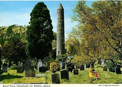 Alte Postkarte - Round Tower, Glandalough, Co. Wicklow, Ireland