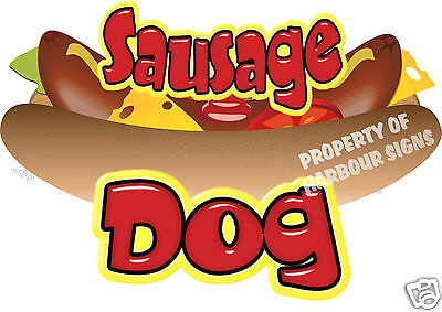 Sausage Dog Decal 18 Hot Dog Cart Concession Food Truck Van Stand Vinyl Sticker