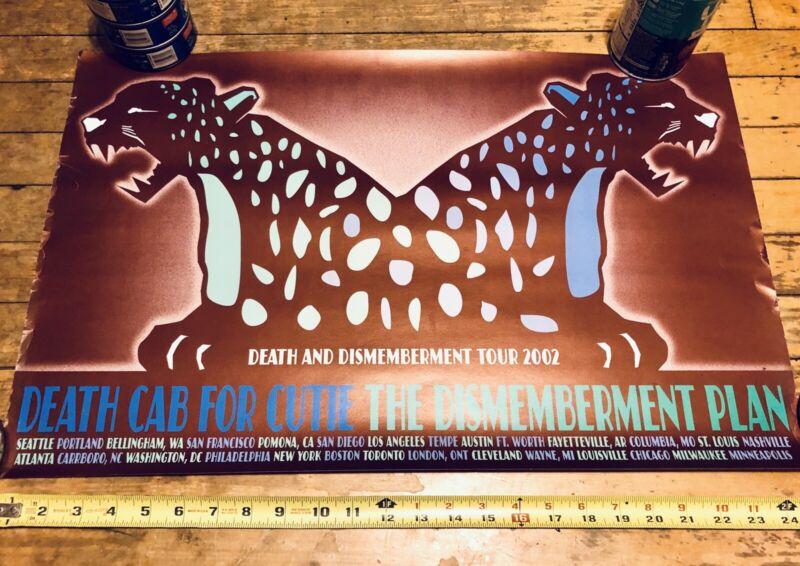 Death Cab For Cutie Concert Poster 2002 Dismemberment Plan Tour Rare DCFC Vntg