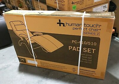 Human Touch Perfect Chair Zero Gravity Recliner Pad Set ONLY - Black Leather