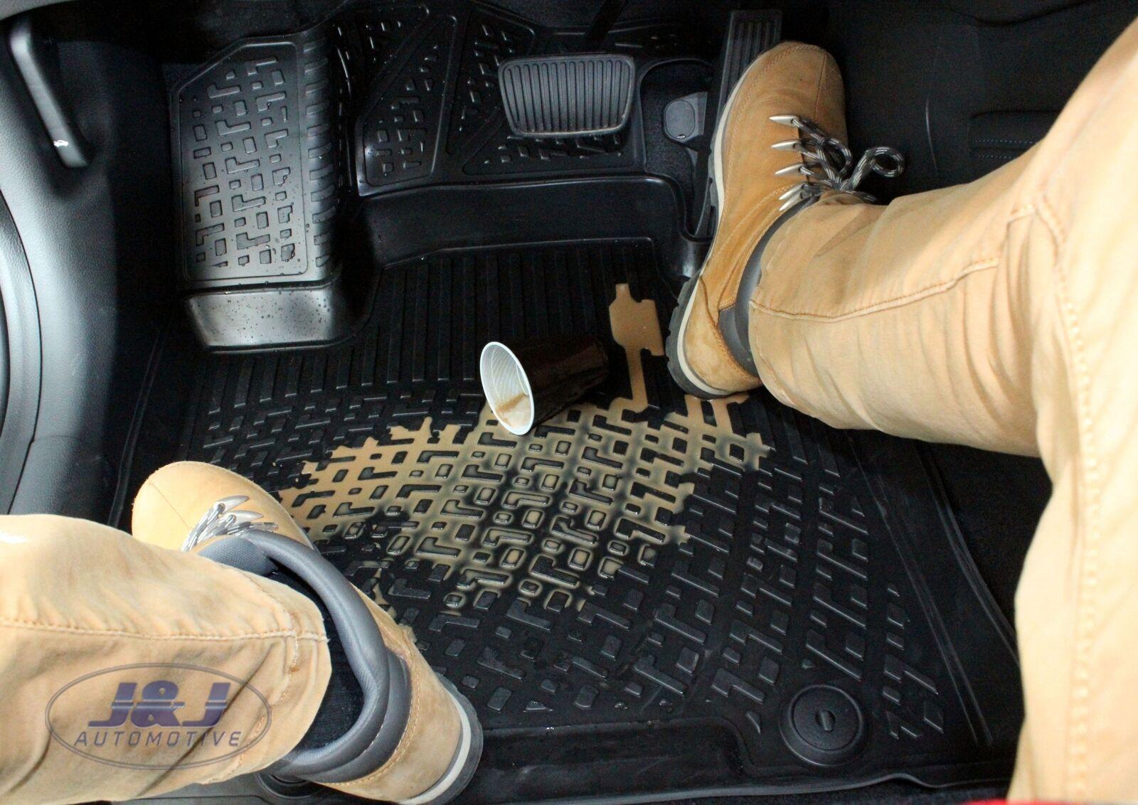 J/&J AUTOMOTIVE Tapis DE Sol en Caoutchouc 3D Exclusive Compatible avec Honda CRV C-RV 2006-2012 3pcs