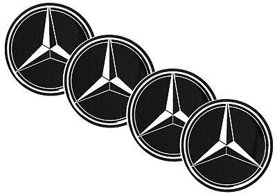 4x Mercedes-Benz 60mm Silikonaufkleber Felgendeckel Radnabenkappen Emblem