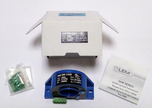 Lem Dhr 200 C420 Ac/dc Current Transducer Output 4-20 Ma Dc  Vcc 20-42 Vdc Nos