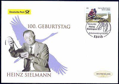 BRD 2017: Heinz Sielmann! Post-FDC der selbstklebenden Nr. 3319! 1706