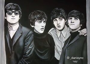 The Beatles oil painting