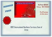 1990 AUSTRALIAN UNC $10 SILVER COIN West Mackay Mackay City Preview