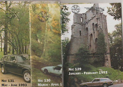 3 RARE VINTAGE SLICE MAGAZINES 1993 RELIANT SABRE & SCIMITAR OWNERS CLUB 129 +
