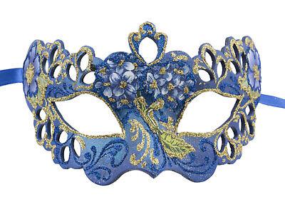 Mask Venice Colombine Tutti fruiti blue paper mash 2386