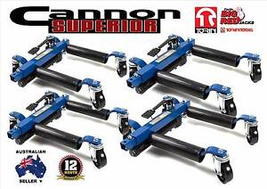 """4 x HYDRAULIC 12"""" WHEEL DOLLYS VEHICLE POSITIONING DOLLY GO JACK Smithfield Playford Area Preview"""