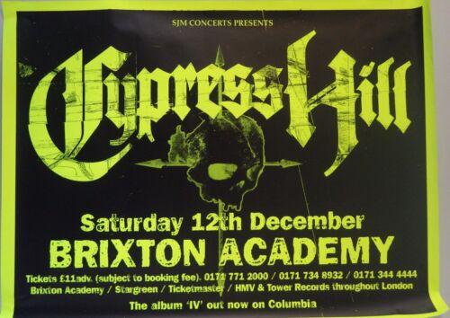 "ALBUM POSTER~Cypress Hill Live at Brixton Academy 1998 30x40"" Neon Original~HUGE"