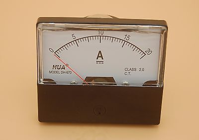 Dc 20a Analog Ammeter Panel Amp Current Meter Dc 0-20a 6070mm Directly Connect