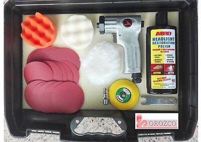 Pulidora Neumática de Faros y Retoques Automovil Kit