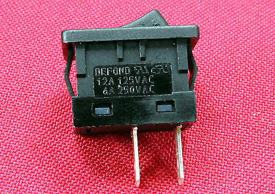 Mini Defond Spst Momentary Off Rocker Switch 125v-12amp Nc Bi5