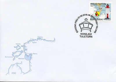 Estonia 2018 FDC Manilaid Lighthouse 1v Cover Lighthouses Architecture Stamps