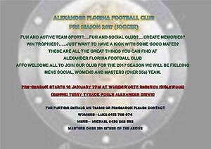 2017 MALE & FEMALE FOOTBALL (SOOCER) PLAYERS Inglewood Stirling Area Preview